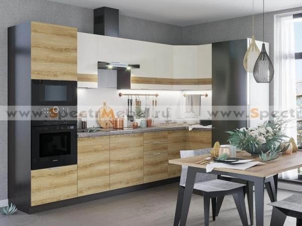 Кухонный гарнитур Terra 4,3 м светлая