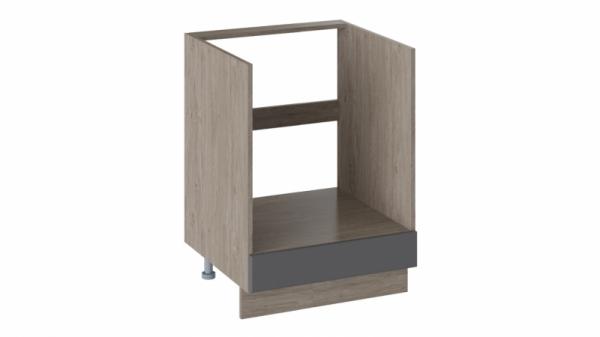 Шкаф напольный под бытовую технику НБ1я_72(12)-60_1Я (ОДРИ (Серый шелк))