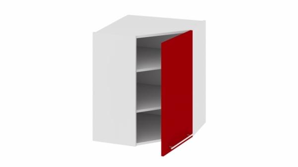 Шкаф навесной угловой с углом 45° ВУ45_72-(40)_1ДР Красная 72 см