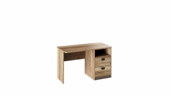 Стол с ящиками «Пилигрим» (Дуб Каньон светлый, Фон серый)