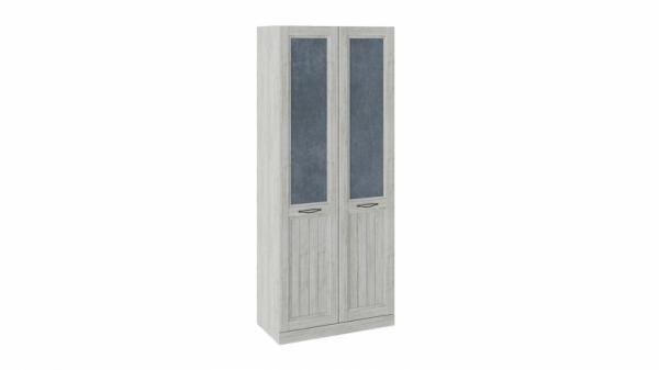 Шкаф для одежды с 2 глухими дверями «Кантри» (Замша синяя/Винтерберг)