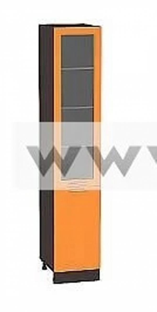 Пенал с дверками оранжевый глянец