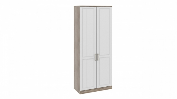 Шкаф для одежды с 2-мя глухими дверями «Прованс» (Дуб Сонома трюфель/Крем)