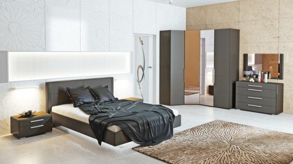 Спальный гарнитур «Наоми» №03 (Фон серый, Джут)