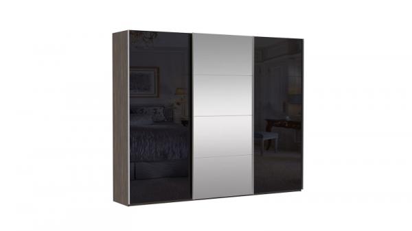 Шкаф-купе трехдверный INNOVO Venge Black Glass