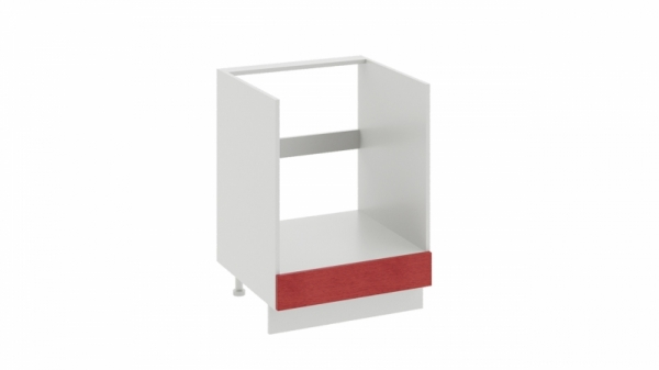Шкаф напольный под бытовую технику с 1-м ящиком НБ1я_72(12)-60_1Я Красная