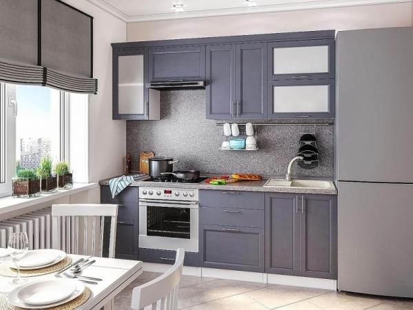 Кухня прямой Сканди 02 2,2 м