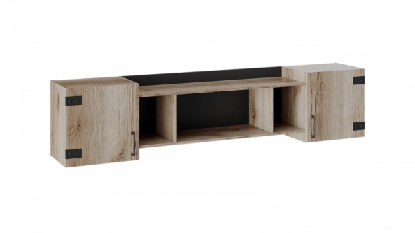 Шкаф навесной «Окланд» (Фон Черный/Дуб Делано)