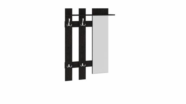 Вешалка с крючками и зеркалом «Арт (мини)» (Венге Цаво)