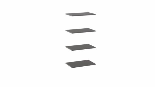 Комплект полок шкафа для одежды «Наоми» (Фон серый)