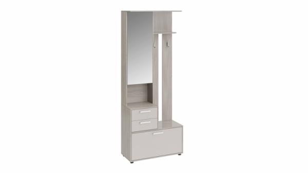 Шкаф-секция комбинированная «Витра» тип 1 (Ясень шимо/Бежевый фон глянец)