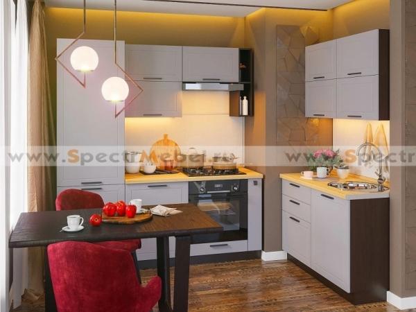 Кухня угловая Глетчер светлая 3,2 м