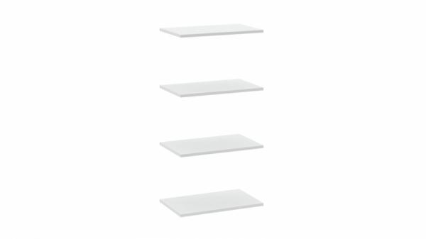 Комплект полок шкафа для одежды «Наоми» (Белый глянец)
