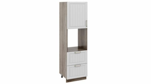 Шкаф пенал под бытовую технику с 2-мя ящиками ПБ2я_204-60_2Я1ДР Молочная