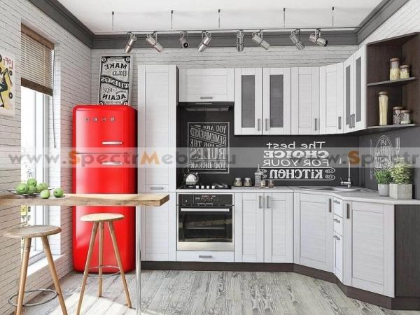 Кухня Лофт белая 3,98 м угловая