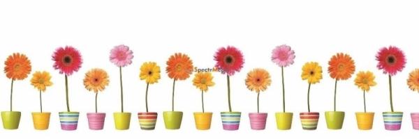 Фартук для кухни Цветы Герберы 3000х1,5х600 мм