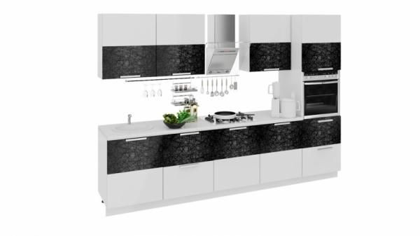 Кухонный гарнитур длиной - 300 см (с пеналом ПБ) (ФЭНТЕЗИ (Лайнс))
