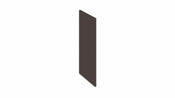 Панель боковая декоративная (Нижняя) (БЬЮТИ (Грэй))