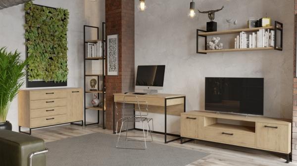 Набор мебели «Лофт» №4 (Черный/Бунратти)