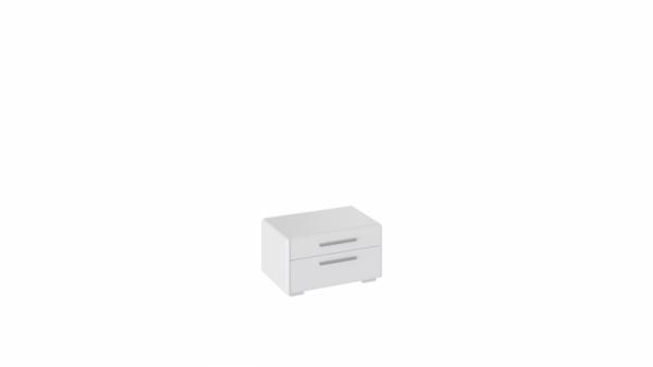 Тумба прикроватная «Наоми» (Белый глянец)