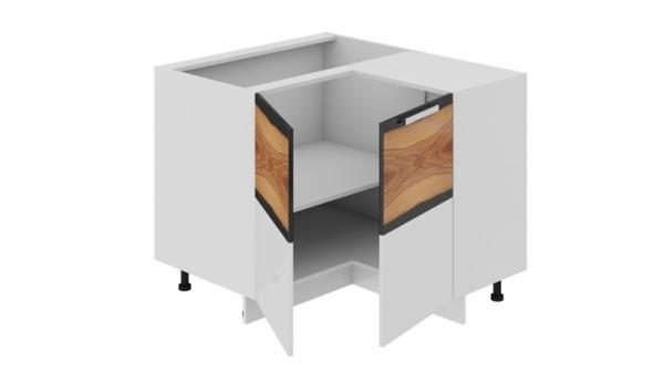 Шкаф напольный нестандартный угловой с углом 90° НнУ90_72_2ДР(НнУ) (Фэнтези (Вуд))