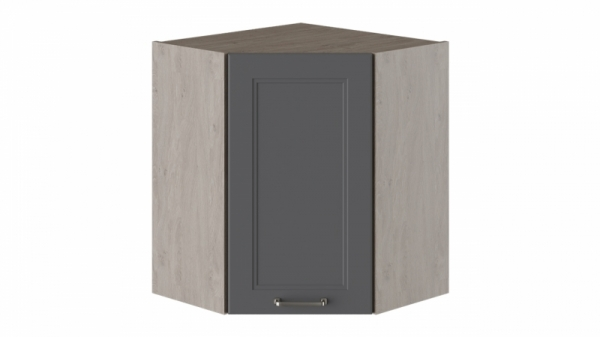 Шкаф навесной угловой с углом 45° ВУ45_72-(40)_1ДР Серая 72 см