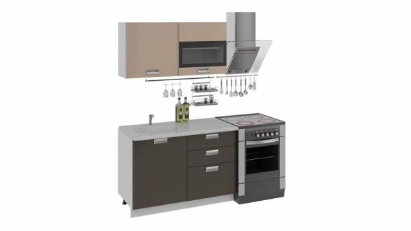 Кухонный гарнитур длиной - 180 см (БЬЮТИ (Капучино)/(Грэй))