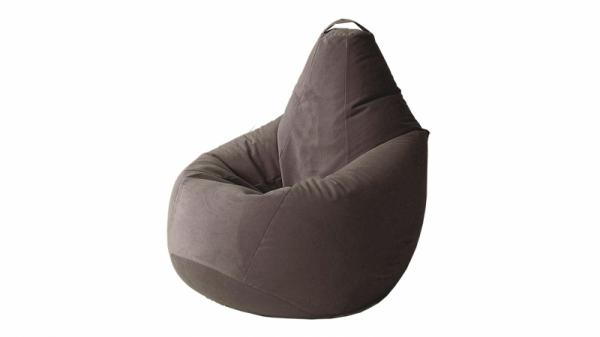 Кресло-мешок «Купер» XL (Велюр коричневый, Люкс)
