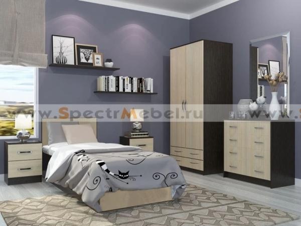 Кровать Фиеста с матрасом 1050х750х2032 венге\белфорд