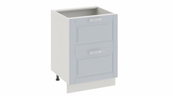 Шкаф напольный с 2-мя ящиками Н2я_72-60_2Я (СКАЙ (Голубая))