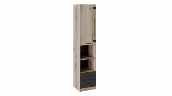 Шкаф комбинированный «Окланд» (Фон Черный/Дуб Делано)