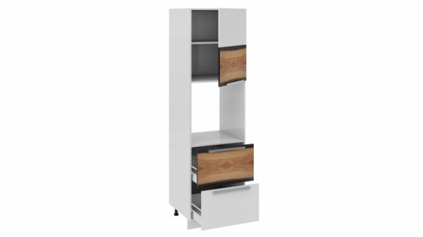 Шкаф пенал под бытовую технику с 2-мя ящиками (правый) ПБ2я_204-60_2Я1ДР(Б) Белая