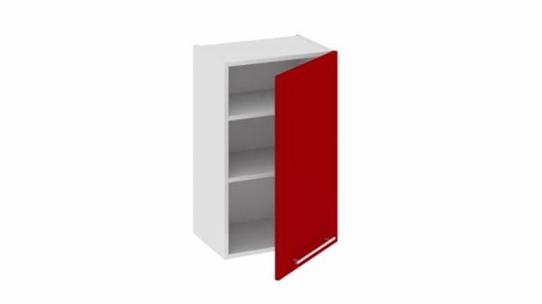 Шкаф навесной В_72-45_1ДР Красная 72 см