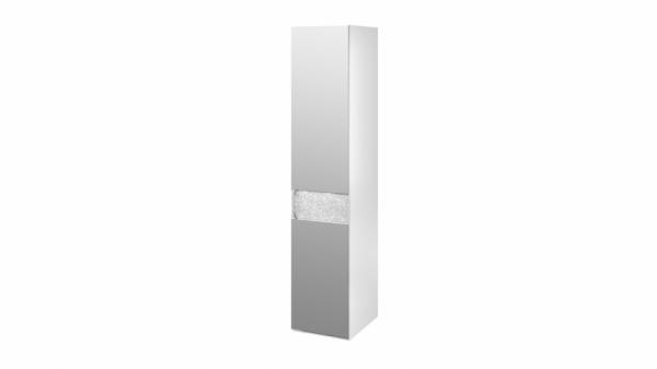 Шкаф с 1-й зеркальной дверью правый «Амели» (Белый глянец)