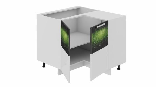Шкаф напольный нестандартный угловой с углом 90° НнУ90_72_2ДР(НнУ) (Фэнтези (Грасс))