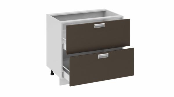 Шкаф напольный с 2-мя ящиками Н2я_72-90_2Я (БЬЮТИ (Грэй))