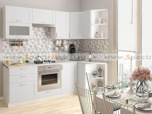 Кухонный гарнитур угловой Loft 3,39 м белый