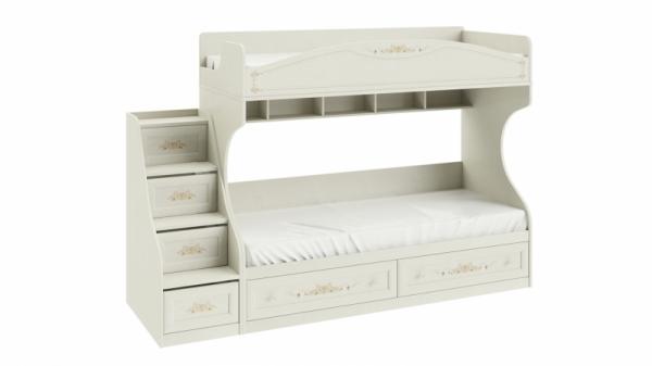 Кровать двухъярусная с приставной лестницей «Лючия» (Штрихлак)