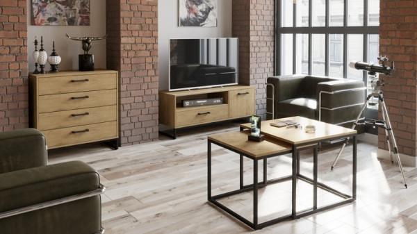 Набор мебели «Лофт» №2 (Черный/Бунратти)