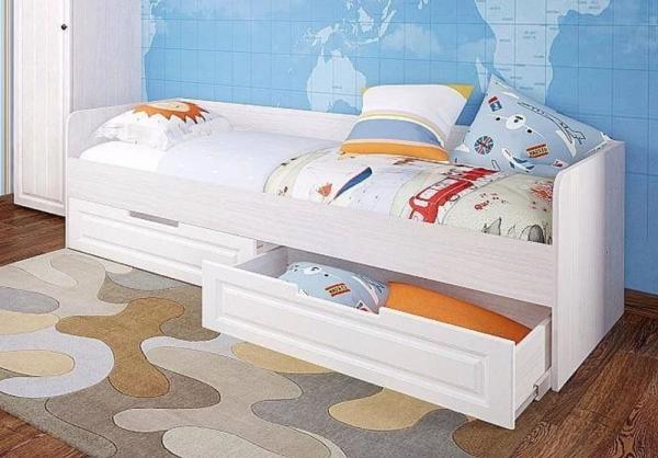 Кровать детская Прага с ящиками