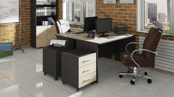 Набор офисной мебели для кабинета руководителя №6 «Успех-2» (Венге Цаво, Дуб Сонома)