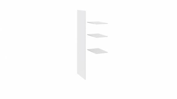 Комплект полок с перегородкой «Наоми» (Белый глянец)