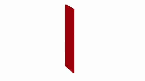 Панель боковая декоративная (Верхняя) (АССОРТИ (Вишня))