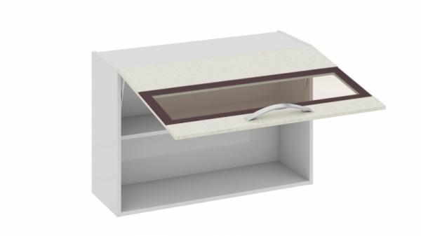 Шкаф навесной со стеклом В_60-90_1ДОс (Синга (Крем))