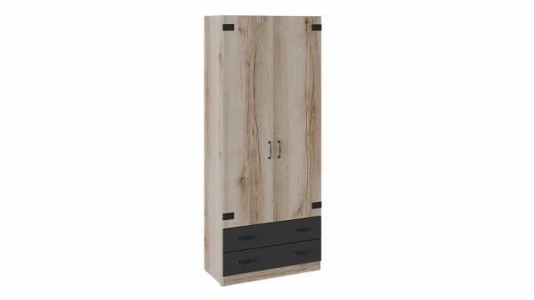 Шкаф для одежды комбинированный «Окланд» (Фон Черный/Дуб Делано)
