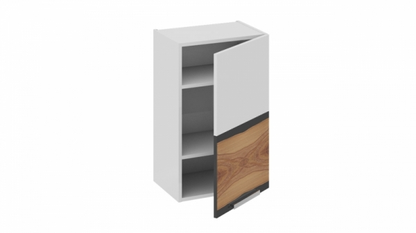 Шкаф навесной (правый) В_72-45_1ДР(Б) Белая 72 см