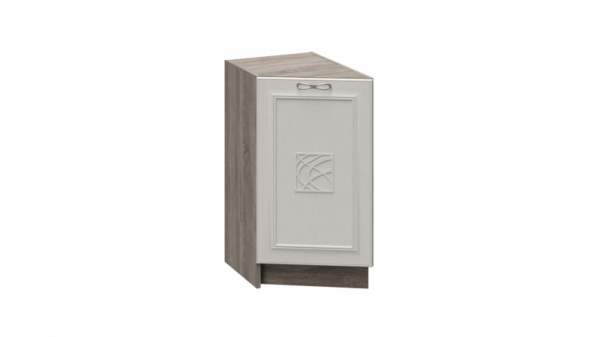 Шкаф напольный торцевой с декором НТ_72-40(45)_1ДР(Д) (САБРИНА (Кашемир))