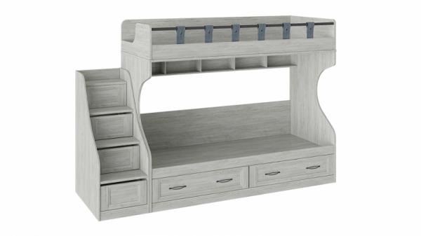 Кровать 2-х ярусная с приставной лестницей «Кантри» (Винтерберг)
