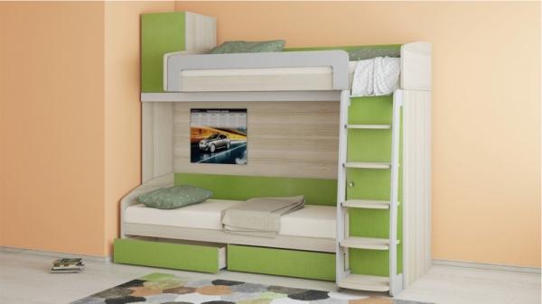 Двухъярусная кровать «Киви» №2 (Панареа)