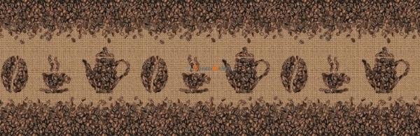 Фартук для кухни Кофейные узоры 3000х1,5х600 мм